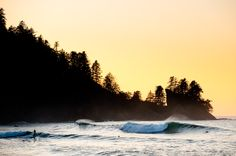 A secret surf break along the Pacific Northwest coast (shot by Chris Burkard)