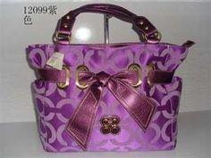 purple coach handbag.