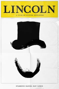 Lincoln X Playbill    Oscar Pop! The 2013 Best Picture Nominees as Pop Art Posters {Shutterstock} minimalist movie posters, movi poster, lincoln, jordan, font, art posters, art pop, oscar party, minimal movie posters