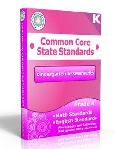 Description: Kindergarten Assessment Workbook, Kindergarten Common Core Assessment Workbook, Kindergarten Common Core Standards Assessment W...