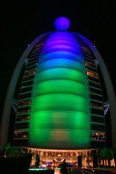 Burj al Arab Hotel Dubai. The only 7 Star hotel in the world