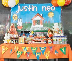 Nijntje aka Miffy Themed First Birthday Party