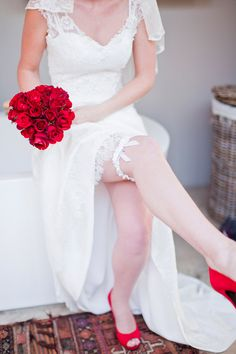 pops of romantic bright red // photo by Rensche Mari