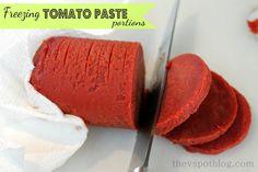how to freeze tomato paste