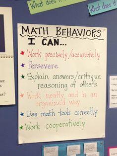 learn behavior, teach math, student behavior chart, math anchor charts, explicit teach, math notebook ideas, behavior charts, teaching maths ideas, math practice standards