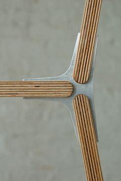 Details we like / Wood / Metal / Connection / Fixation / Layer Woods / at Design Binge