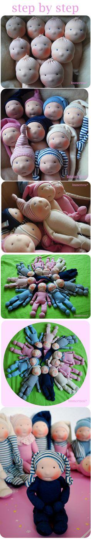 step by step baby dolls
