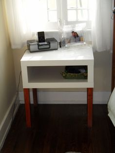 Cool idea for the bedroom nightstand!