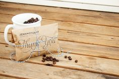 thank you wedding coffee bag