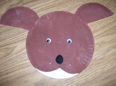 Dog Paper Plate Project Puppet