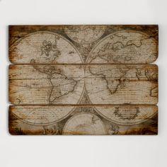 Wood Wall Map | World Market