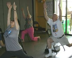 Chair yoga on pinterest chair yoga yoga and stretching for Floor yoga poses for seniors