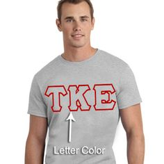 #Fraternity #Printed #Greek Outline Font T-Shirt $15.95 #NoMinimums #Custom  #Personalized #Clothing #Apparel #Merchandise #GreekLetters