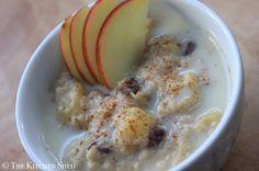 Clean Eating Apple Pie Porridge - The Kitchen Shed #cleaneating #eatclean #vegan