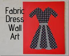 fabric-dress-wall-art
