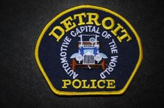 Detroit Police Patch, Wayne County, Michigan