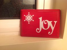 DIY Joy Wooden Plaque