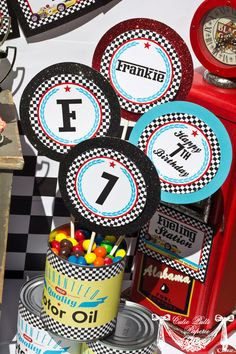 Race Car Party Vintage Race Car Birthday PRINTABLE by CutiePutti