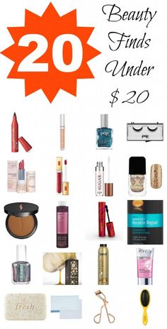 20 #beauty finds under #20 -- great deals!
