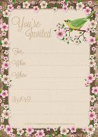 Free Printable All-Occasion Cherry Blossom Party #Invitation