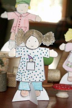 waldorf inspired paper dolls