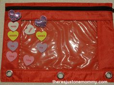 DIY Seek and Find Bag for Valentine's Day from There's Just One Mommy
