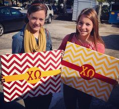 chevron canvas with letters, cute for big/little week!