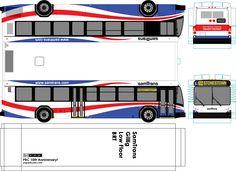SamTrans paper model bus - paperbuses.com. DIY paper craft