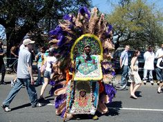 Mardi Gras Indians in New Orleans.