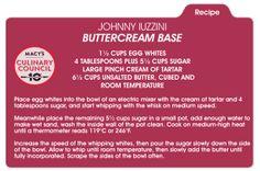 Chef Johnny Iuzzini's buttercream base for a delicious Valentine's Day dessert