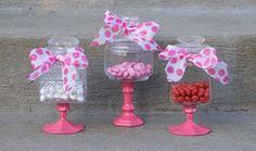 Pedestal Apothecary Jars - Valentine's Day