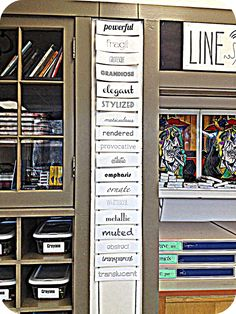 Vocabulary in the art room | The Bees Knees Cousin