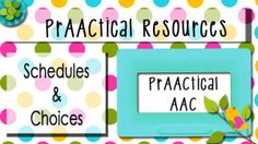 Schedules and Choices visual schedules, school, speech therapi, communic, slp, autism, visual support, aac basic, languag
