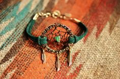 NEW Color Peacock Green Suede Dreamcatcher by TurquoiseCrush, $23.99