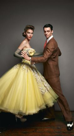 Yellow tulle