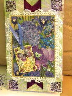 purple card for a good friend
