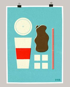 Cool deconstructed fast food posters by Dale Edwin Murray