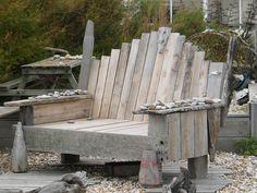loung chair, driftwood furniture, lounges, driftwood idea, cabin idea