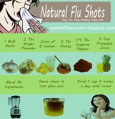 Natural Flu Shots #flu #naturalremedies #lemon  #diy