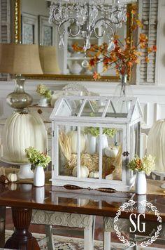 Fall-Dining Room-table-greenhouse-stonegableblog.com