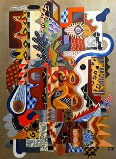Zio Ziegler art style, mucho color para los cuadros en las paredes... @Xavi Tapia Piñeiro