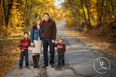 family photo fall leaves