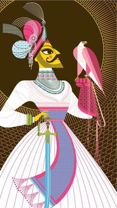 Maharaja with Falcon by Sanjay Patel.  Sanjay