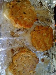 salmon patties - sounds very much like my Grandmother's recipe