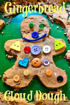 Run, Run As Fast As You Can...to make Gingerbread Cloud Dough with your Kids!