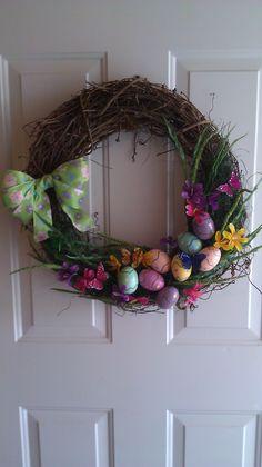 holiday wreath, easter sunday, easter diy, diy wreath, diy easter