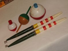 Handymans Haven » 5 vintage fishing bobbers ~ used
