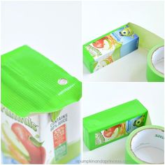 Monsters University Party Ideas: Mike Wazowski Juice Boxes
