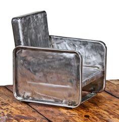 art deco metal chair 1930's
