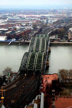 Hohenzollern Bridge, river Rhine, Cologne, Germany